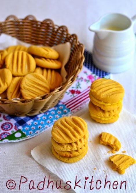 Custard Powder Cookies-Custard Powder Biscuits