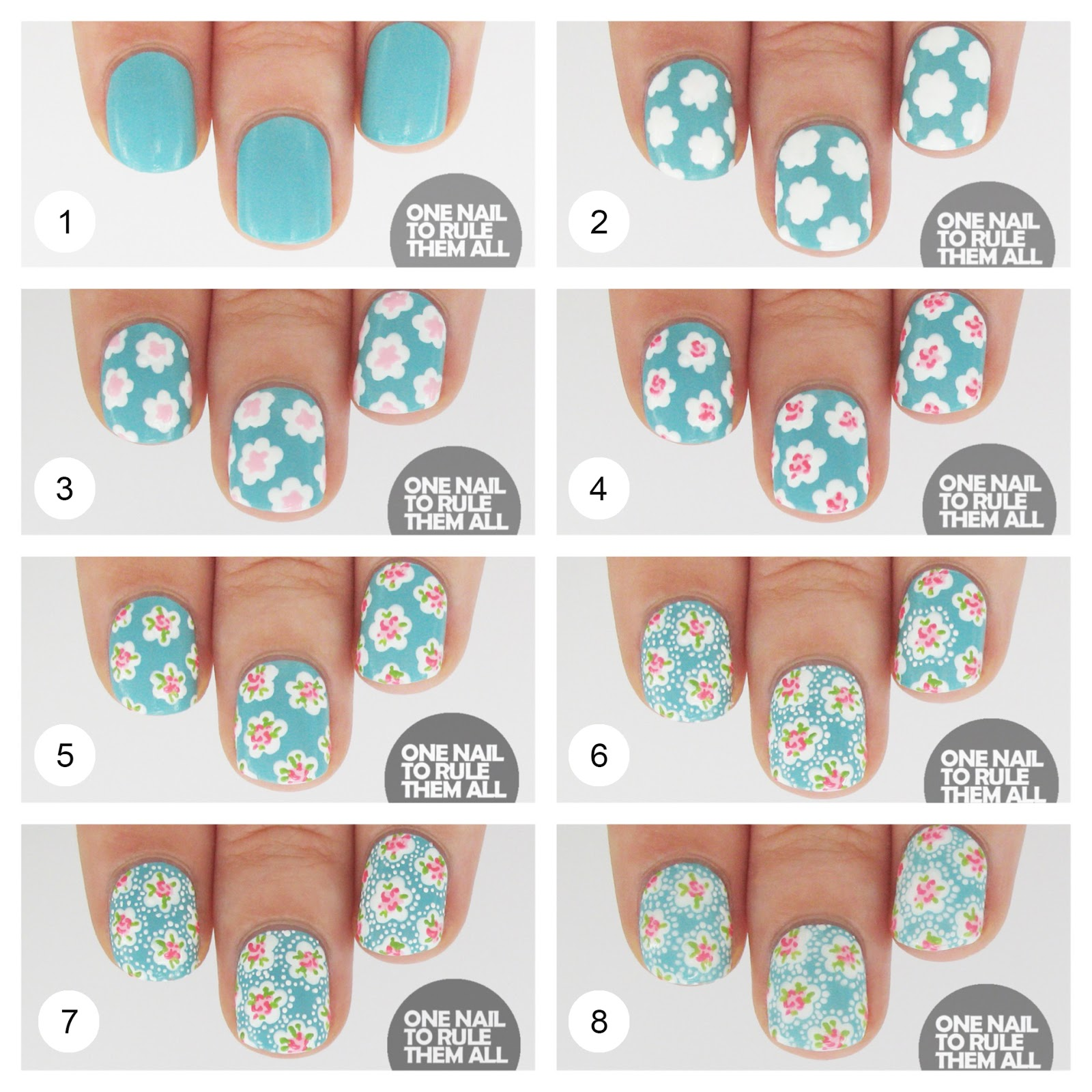 Nail Arts By Rozemist Cath Kidston Vintage Inspired: Nail Art Style: Then And Now: Cath Kidston + Tutorial