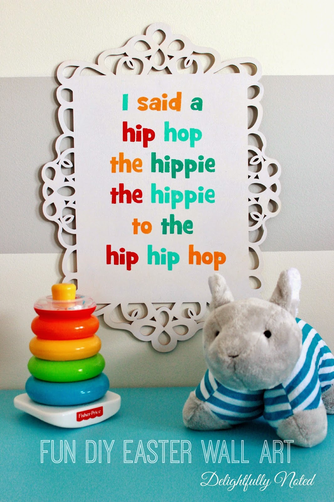 """Rappers Delight"" Fun and Cute Easter Wall Art!"