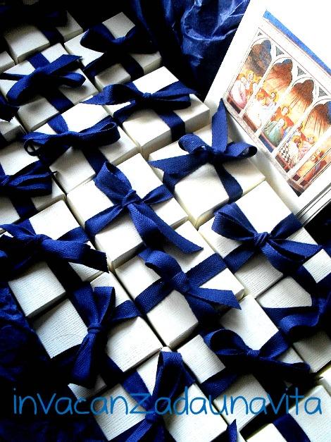 scatoline con fettuccia: bomboniere cresima