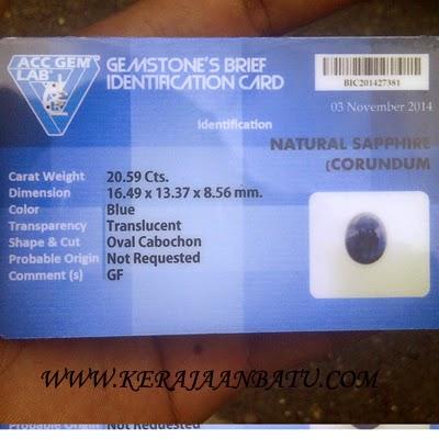 NATURAL BLUE SAPPHIRE CORUNDUM KODE P 976