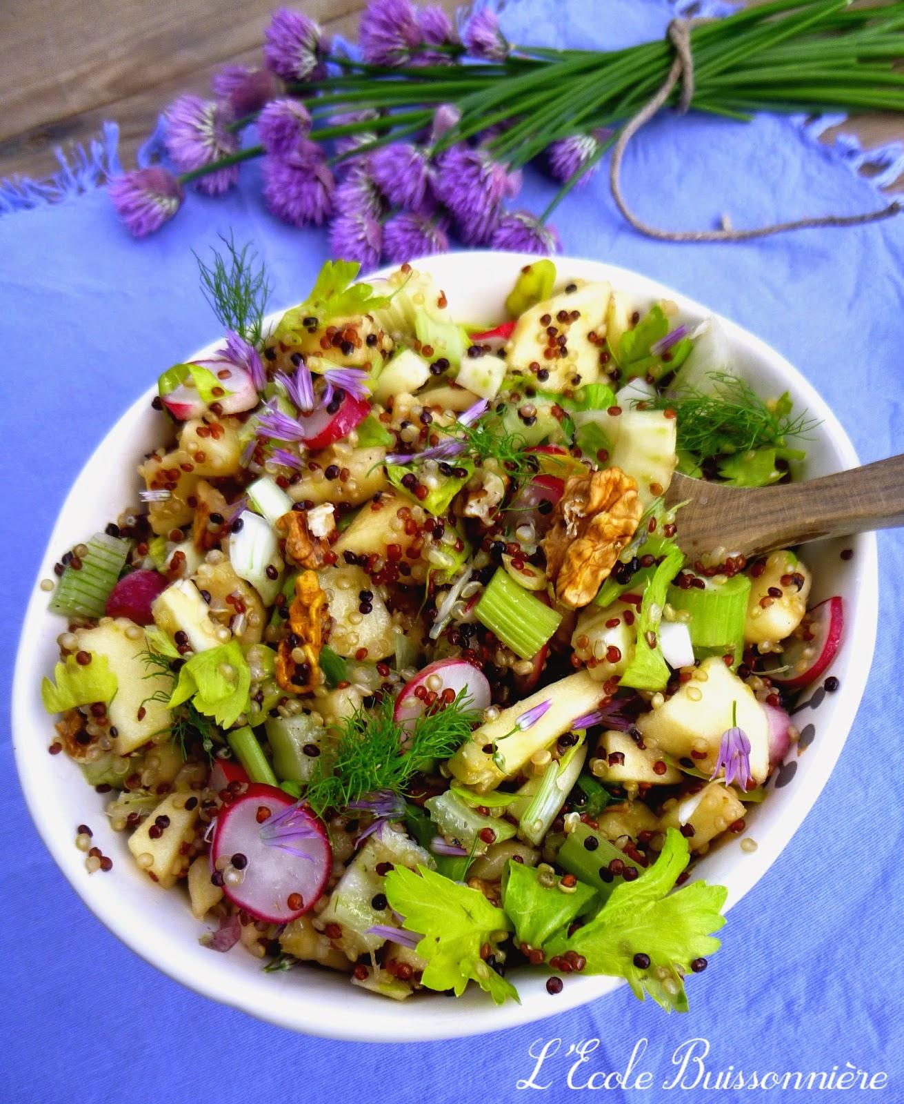l 39 ecole buissonni re salade de quinoa c leri branche fenouil et pommes. Black Bedroom Furniture Sets. Home Design Ideas