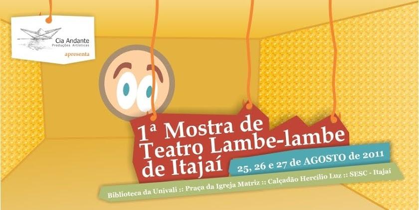 1ª Mostra de Teatro lambe-lambe de Itajaí