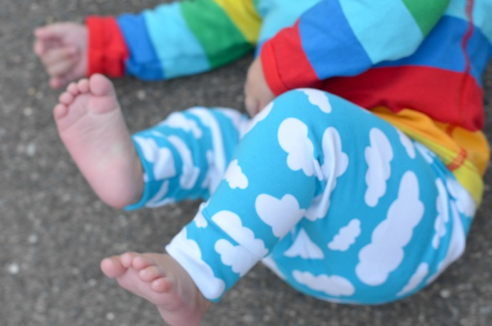 cloud baby leggings, lottie and lysh, baby fashion