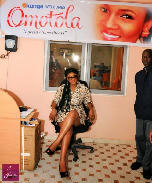 Photos: Sexy Omotola Jalade-Ekeinde in Alter Ego at the Konga Car Giveaway in Lagos