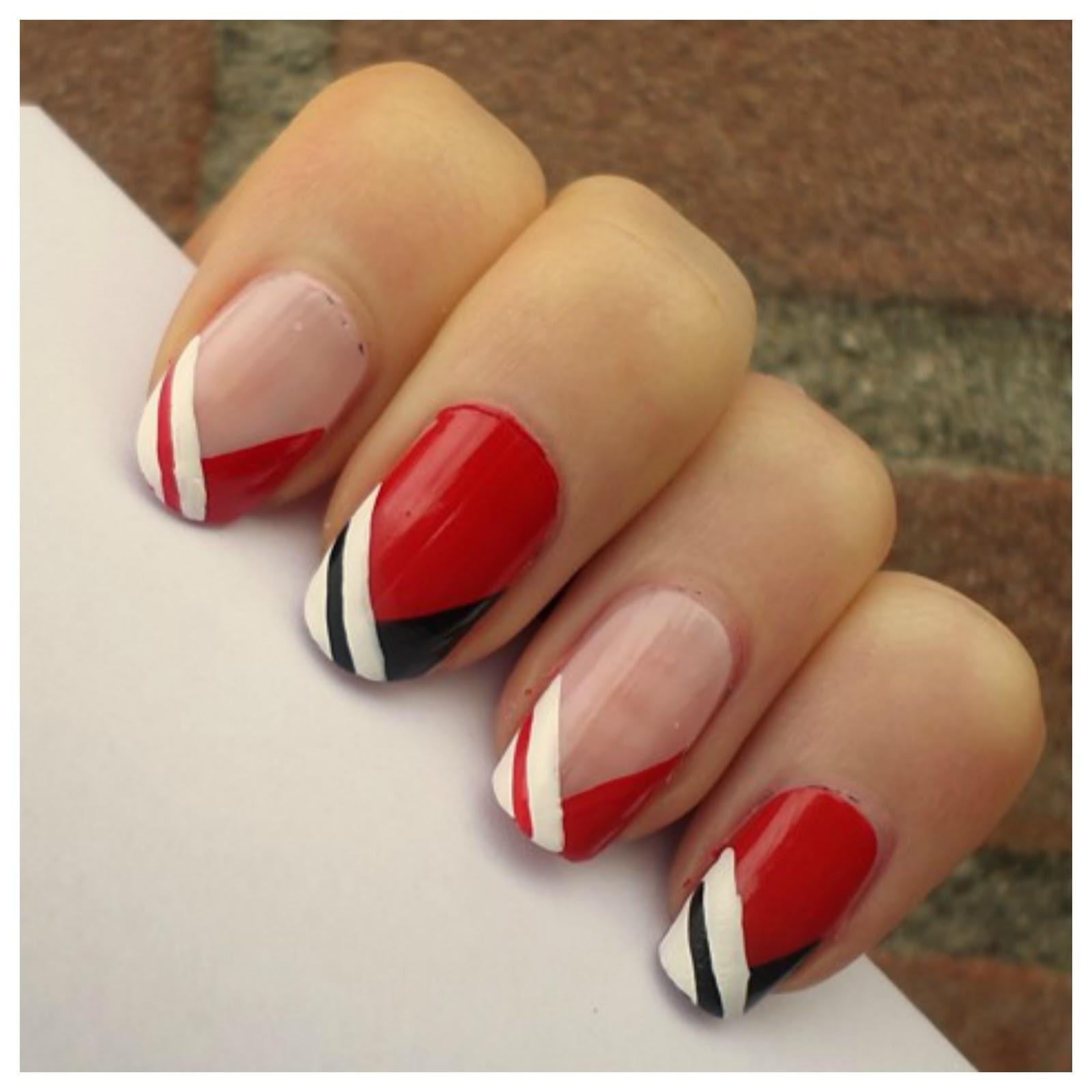 Creativenails4fun Nail Art Red French Manicure