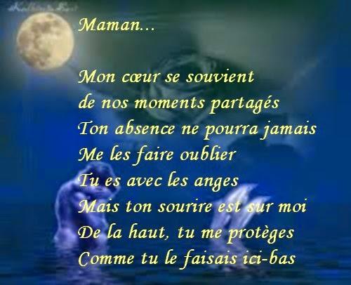 poeme pour anniversaire deces de maman