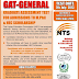 NTS GAT-General Graduate Assessment Test Date Result 2013 Form Online