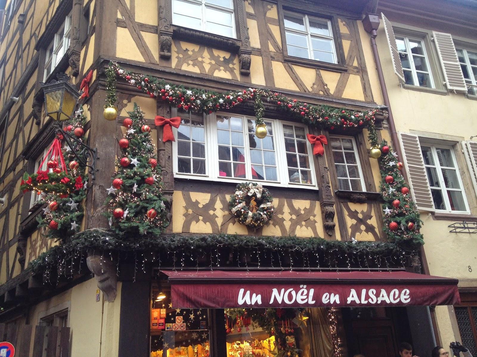 Christmas shop in La Petite France, Strasbourg, France
