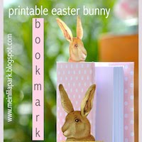 free bunny bookmark: