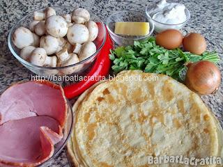 Clatite gratinate cu ciuperci ingrediente reteta