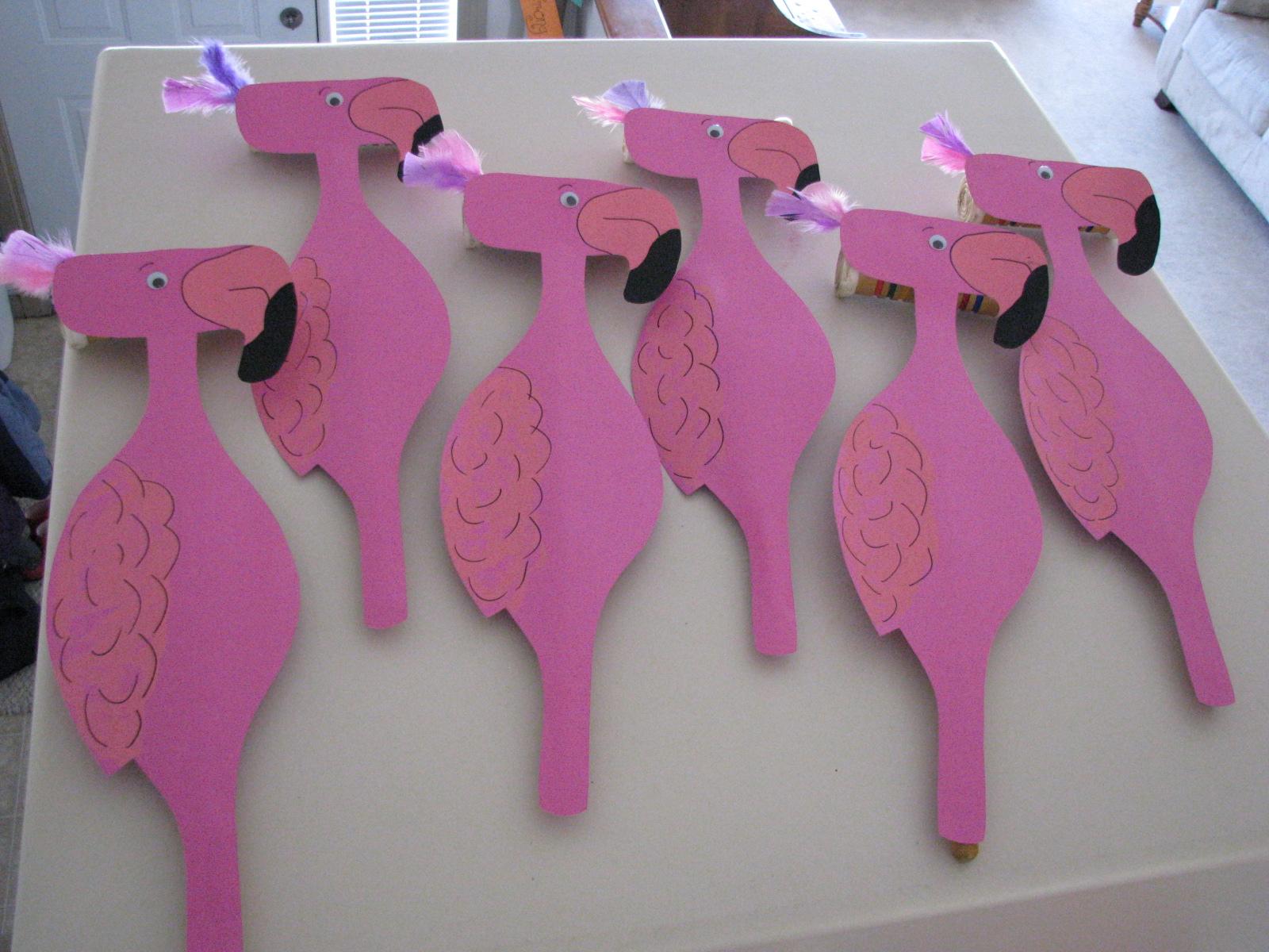 Фламинго для крокета своими руками134