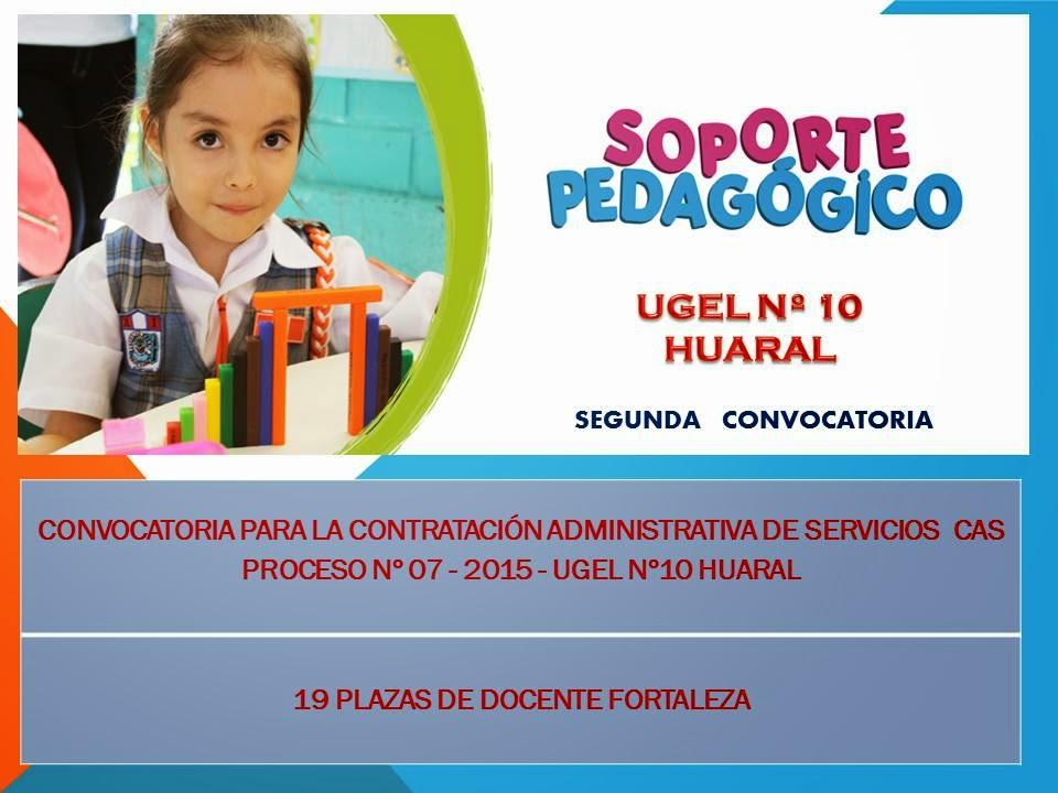 Actividades de matem tica y digete en huaral segunda Convocatoria para las plazas docentes 2016