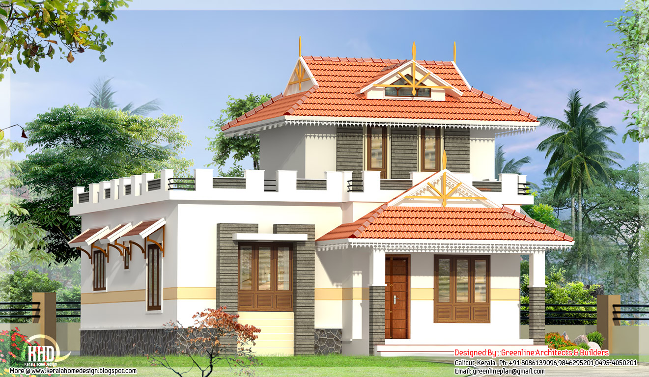2 bedroom single floor house elevation kerala home for 2 bedroom house designs in india