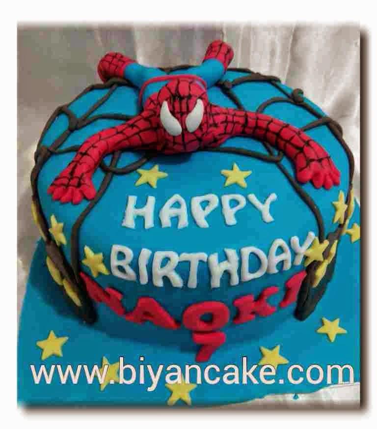 Kue tart Spiderman ~ Naoki