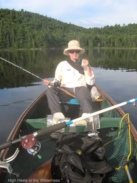 Lolling and fishing and sipping tea. Booth Lake 2010. Streamside chic.