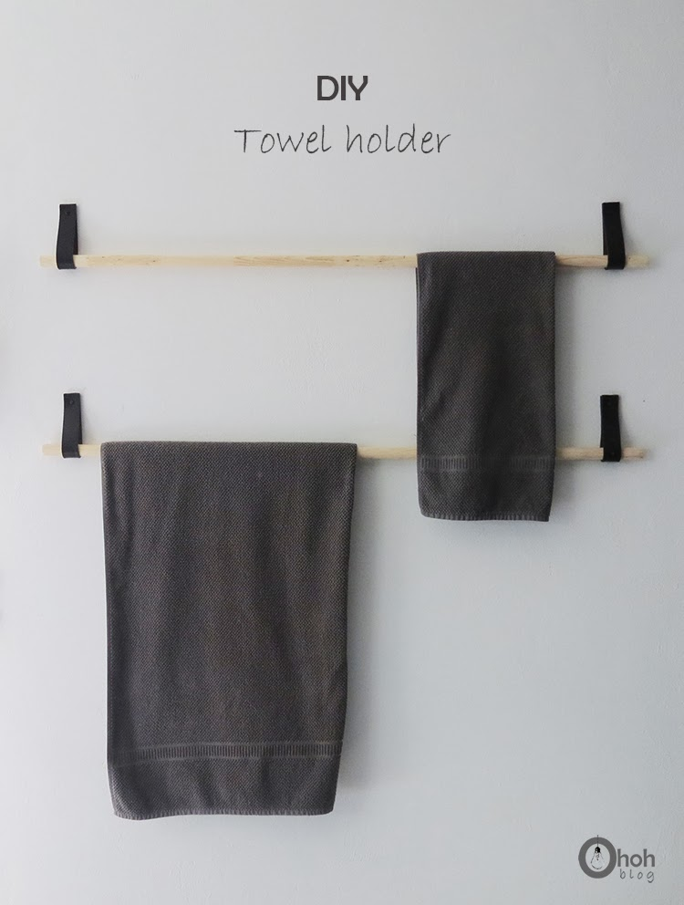 diy towel hanger ohoh blog. Black Bedroom Furniture Sets. Home Design Ideas