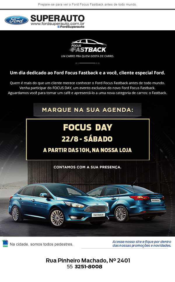 7958a0336ba É o Ford Focus Fastback e Focus Hatch 2016. Os novos modelos Globais da  marca estão com mais tecnologia e novo DNA Ford. Em Santiago