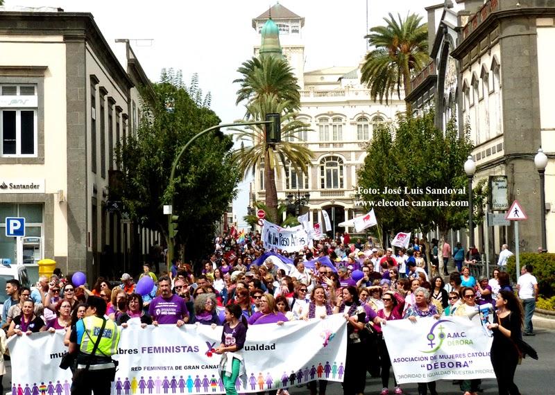 Fotos Día de la Mujer 2015 Las Palmas de Gran Canaria