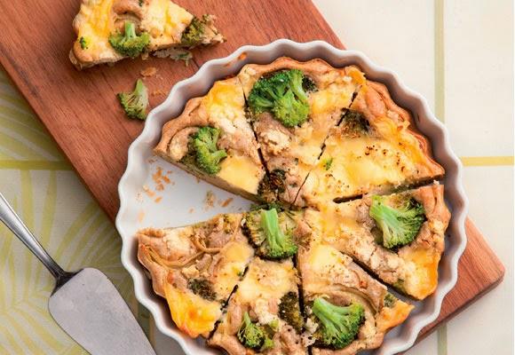 Torta integral com brócolis light