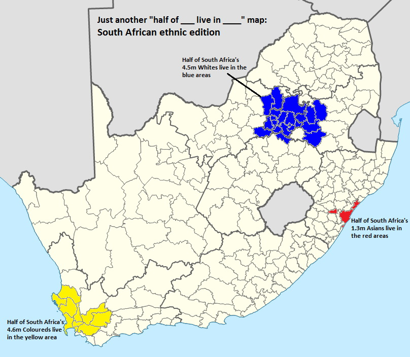 Where the majority of South Africa's minorities live