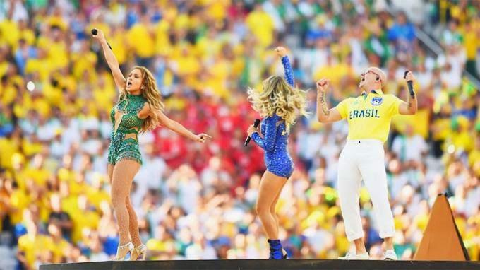Foto Pembukaan Piala Dunia 2014 World Cup Brazil Jennifer Lopez J-Lo