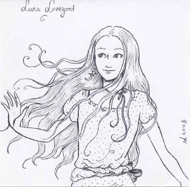 Desenhos do mundo harry potter luna lovegood for Luna lovegood coloring pages