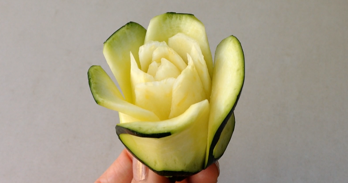 Quick easy simple art in fruit and vegetable carving