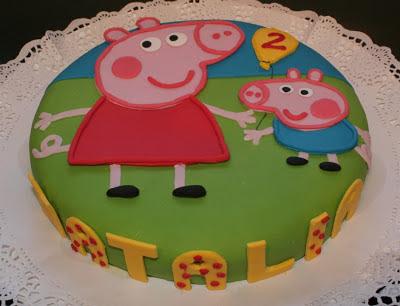 tarta fondant peppa pig, tarta infantil