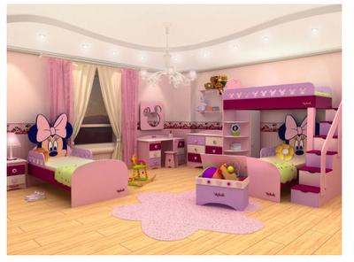 Dormitorios para ni as tema minnie dormitorios colores y for Alcobas para ninas