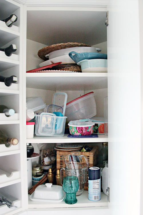Iheart Organizing Organized Kitchen Corner Cabinet With A Diy