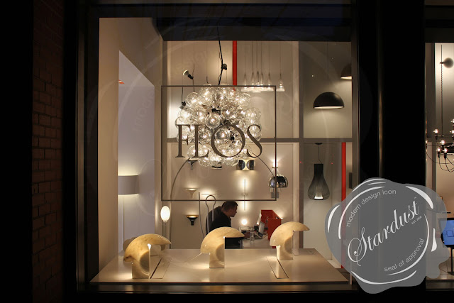 flos lighting soho. flos lamps light up the night; this beautiful image at nightfall shows of collection. 3 in window are biagio lighting soho