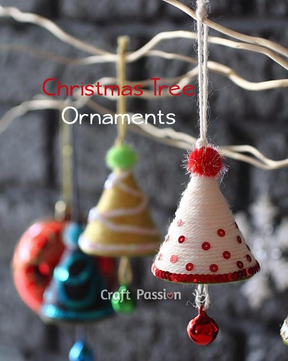 Reciclatex c mo hacer ornamentos de mini rboles para - Ornamentos de navidad ...