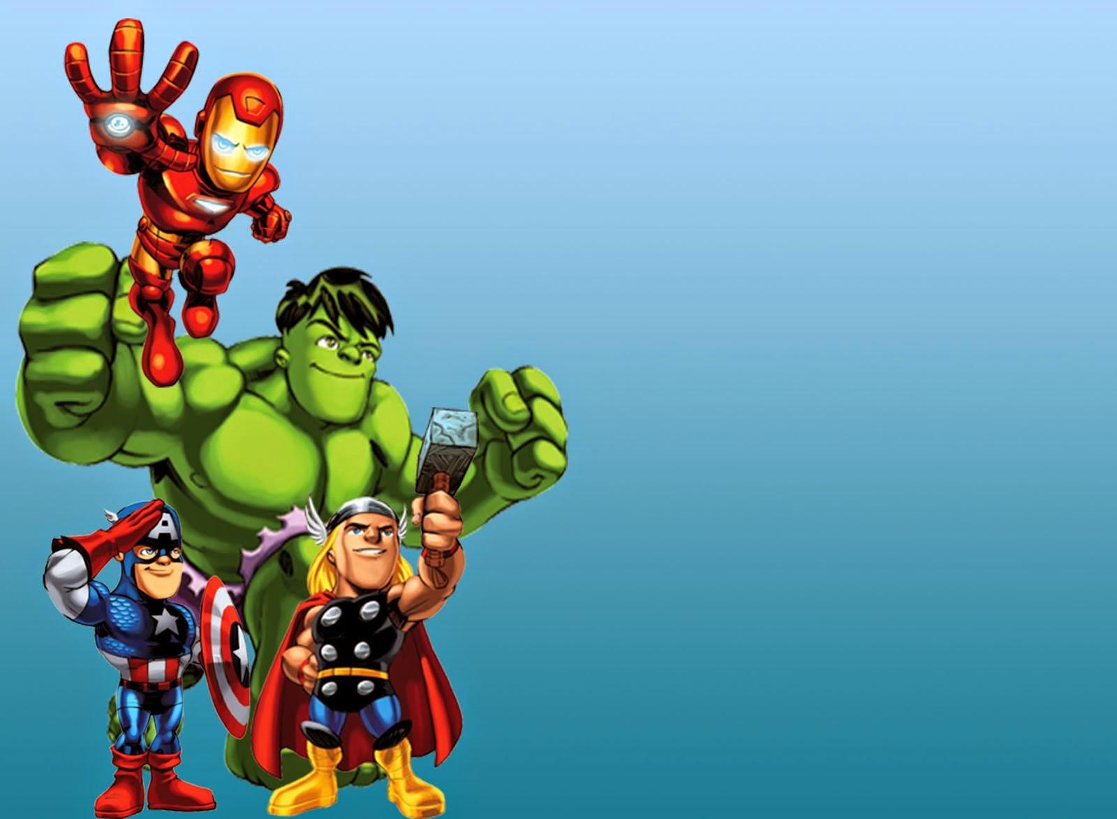 Free Printable Avengers Invitations