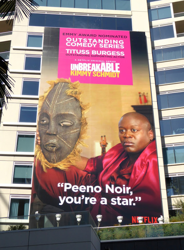 Unbreakable Kimmy Schmidt Peeno Noir 2015 Emmy billboard Hollywood