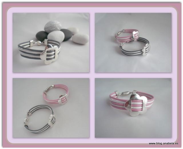 pulseras de cuero y plata tibetana