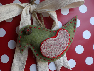 Handmade DIY Felt Bird Ornament