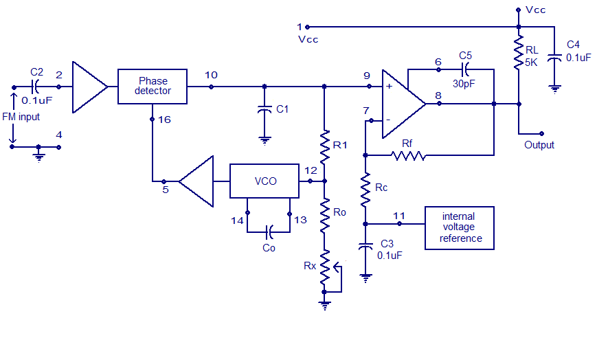 Xr2212 Pll Fm Demodulator Circuit Free Electronic Circuit Diagrams