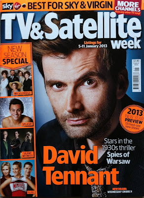 David Tennant on cover of TV and Satellite magazine