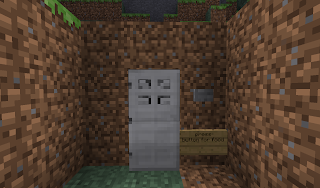 minecraft how to make a fridge with door