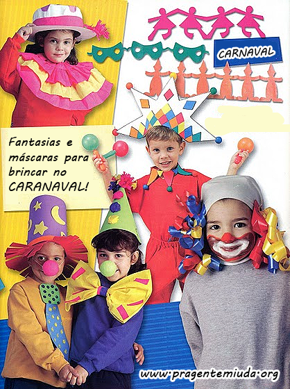 Fantasias e máscaras para brincar no carnaval