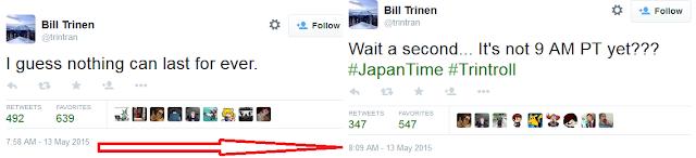 Bill Trinen Trintroll Twitter left quit fired from Nintendo
