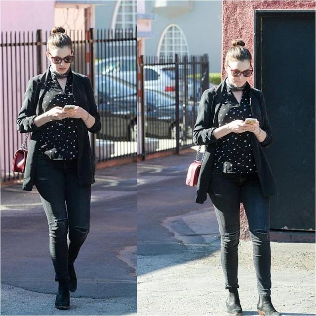 Anne Hathaway in LA
