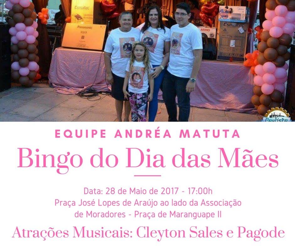 Bingo do dia das mães - Equipe Andréa Matuta