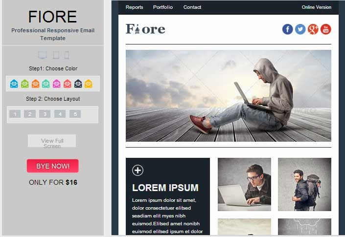 Fiore – Responsive Email Template