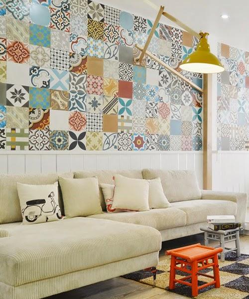 Azulejo hidr ulico el protagonista de esta casa blog de for Azulejos para decorar