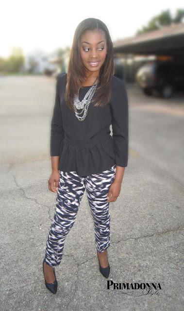 Olsenboye Peplum Top Calvin Klein Favorite Fit Seamed Jersey Slim Leg Ankle Pants Gabriella Rocha Saber