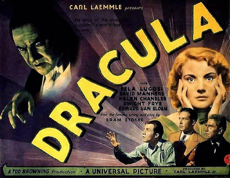 A Vintage Nerd, Classic Film Blog, Old Hollywood Blog, Classic Monster Movies, Dracula
