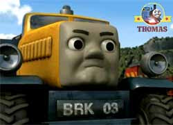 Thomas the tank engine Butch the breakdown vehicle character main BRK 03 Sodor Heavy Recovery Unit