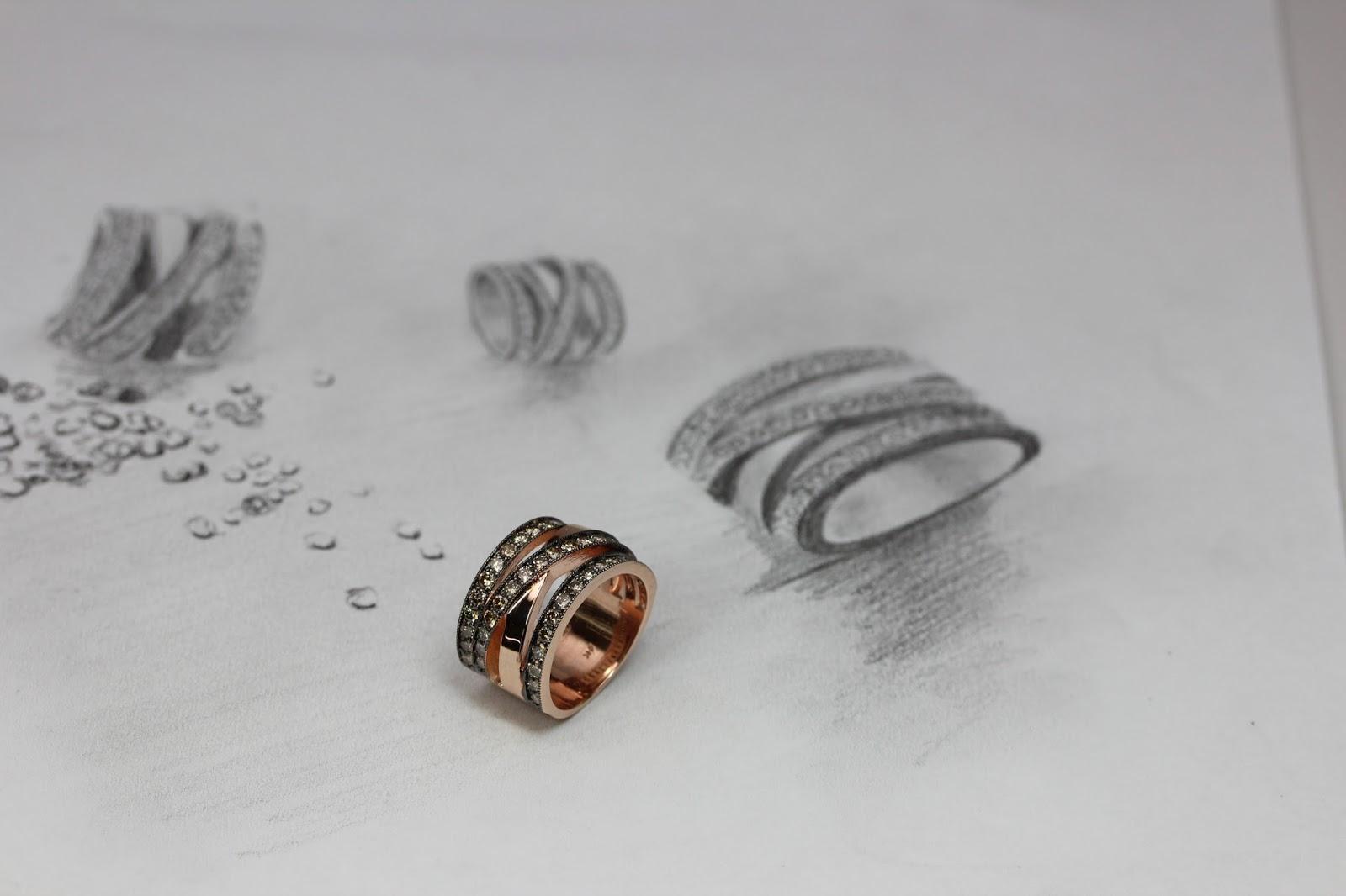 Cocoa Diamond Ring
